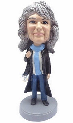 Custom Bobble Head Women In Coat | Gifts For Women