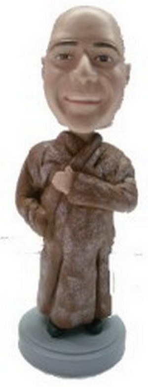 Man in fur Coat custom bobblehead doll