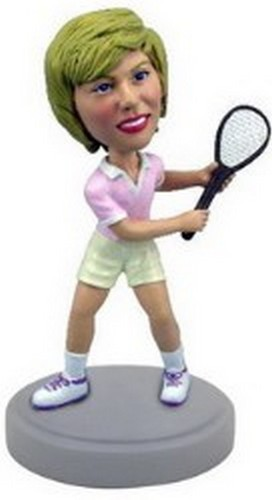 Custom Bobble Head Tennis Lady | Gifts For Women