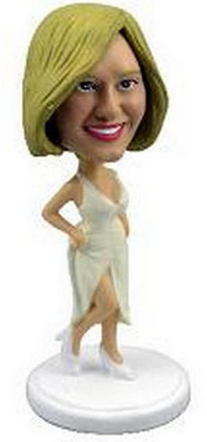 Fancy dress Bridal with sexy pose custom bobblehead doll