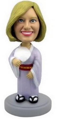 Custom Bobble Head Geisha Outfit - Women Personalized Bobble Head | Gifts For Women