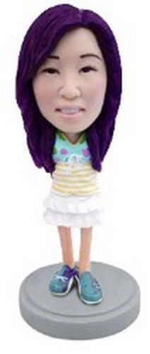 Little Girl in nice outfit 2 custom bobblehead doll