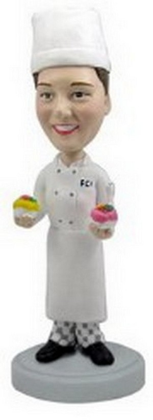 Female personalized bobblehead doll Baker and Chef