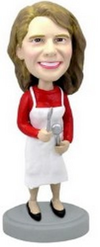 Female Chef personalized bobblehead doll