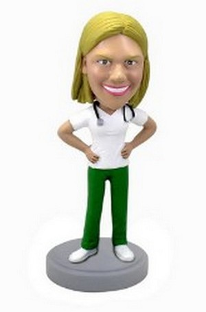 Female Nurse / Doctor custom bobblehead doll