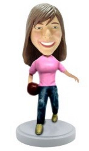 Custom Bobble Head Bowler Personalized Bobble Head Female | Gifts For Women