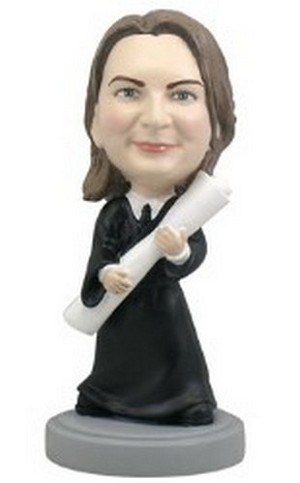 Graduation Female custom bobblehead doll