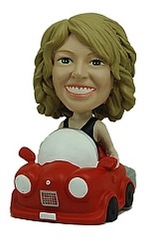 Women Driving custom bobblehead doll