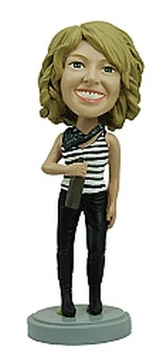 Women with Bottle custom bobblehead doll
