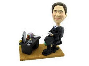 Executive At Desk Custom Bobble Head | Gift Ideas For Men