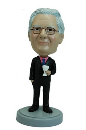 Business man with martini glass custom bobblehead doll
