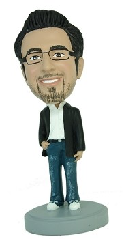 Man with hand in pocket Casual custom bobblehead doll