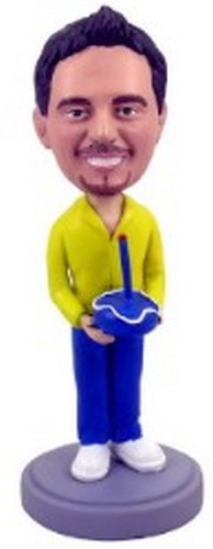 #1 Birthday Boy custom bobblehead doll
