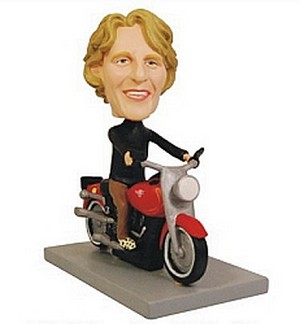 Custom Bobble Head Motorcycle Man