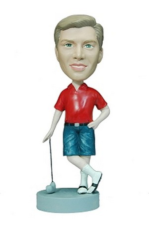 Man Golfer In Shorts Custom Bobble Head | Gift Ideas For Men