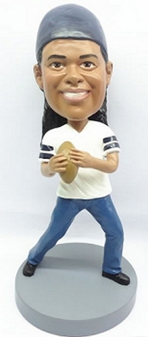 Quarterback Football Player custom bobblehead doll