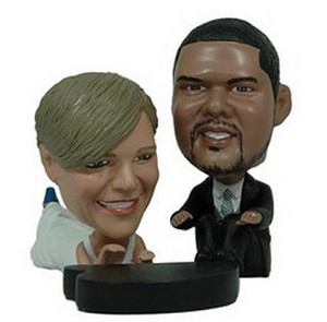 Wedding couple with piano custom bobblehead doll