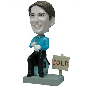 Custom Bobble Head Male Realtor | Gifts For Men
