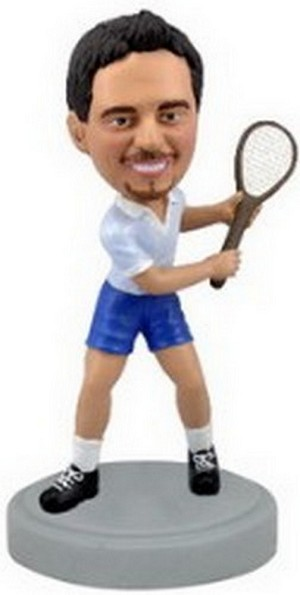 Racket Man custom bobblehead doll