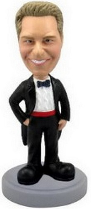 Tuxedo custom bobblehead doll man (Suit 3)