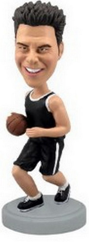 Basketball 2 Bobble (Black) Custom Bobble Head (Bobbing )