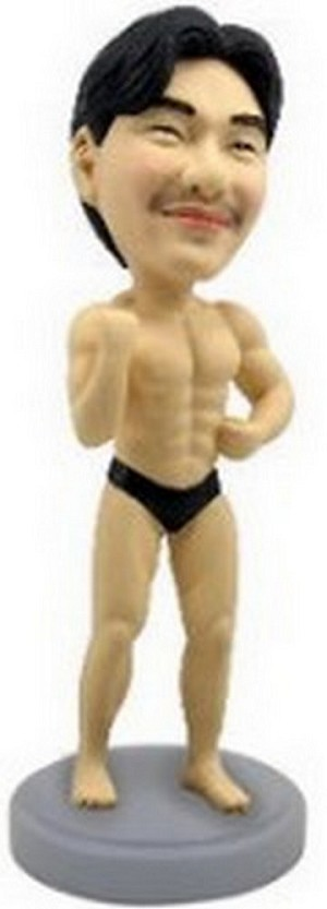 Muscle Man custom bobblehead doll