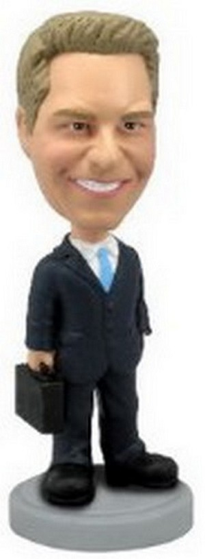 Custom Bobble Head Man With Briefcase 2 | Gift Ideas For Men