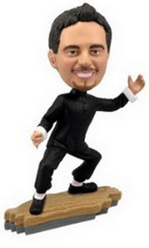 Bruce Lee custom bobblehead doll