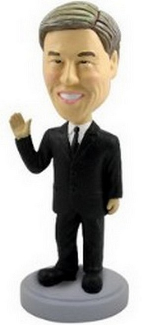 Man Waving In Suit Custom Bobble Head | Gift Ideas For Men