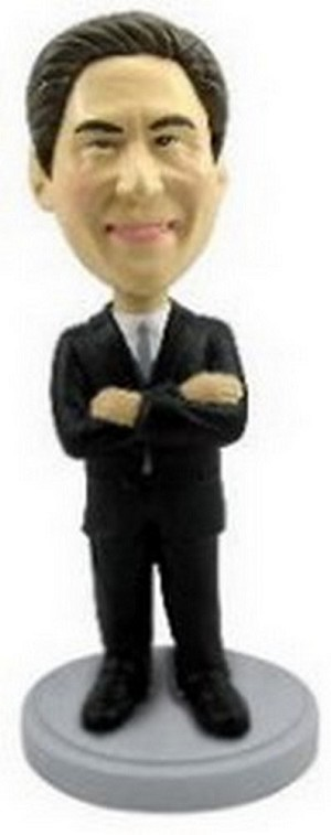 Man with hands crossed custom bobblehead doll