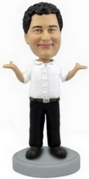 Casual Man With Hands Up Personalized Bobble Head | Gift Ideas For Men