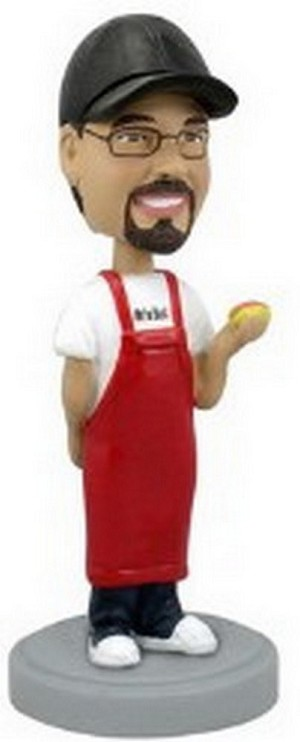 Male Cooking personalized bobblehead doll