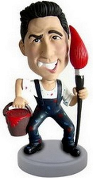 Painter personalized bobblehead doll