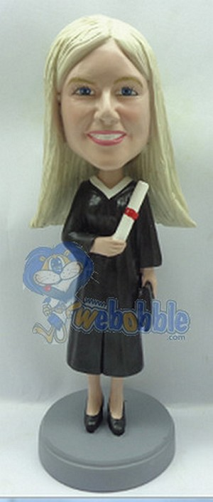 Graduation Female custom bobblehead doll 3